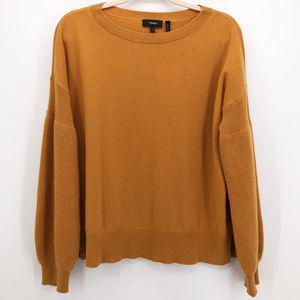 THEORY   Cashmere Bishop Sleeve Tunic Sweater